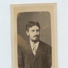 Fotografía antigua: RETRATO DEDICADO Y FECHADO 1879, FOTO NAPOLEÓN, BARCELONA.. Lote 147549638