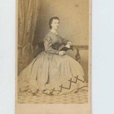 Fotografía antigua: LUISA MITCHELL, FOTO J. SILVERIA, LISBOA. CDV. Lote 147550278