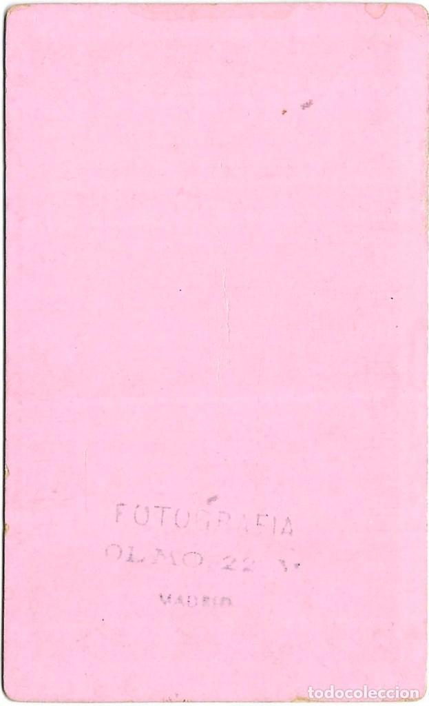 Fotografía antigua: 1880s FOTOGRAFÍA OLMO DAMA ANTIGUA ALBUMINA CARTE VISITE RETRATO CDV MADRID - Foto 3 - 147737410