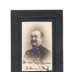 Fotografía antigua: CARTES DE VISITE. ESTUDIO FOTOGRÁFICO. DESCONOCIDO CON DEDICATORIA - MILITAR ESPAÑOL 1915. Lote 147832562