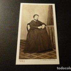 Fotografía antigua: BILBAO CARTE DE VISITE RETRATO DE BERNARDA FIGUEREDO Y ARNAO L. CARROUCHE FOTOGRAFO. Lote 147962086