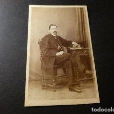Fotografía antigua: CARTE DE VISITE RETRATO DE LORENZO AGUILAR VELA JUAN MARTÍ FOTOGRAFO MADRID . Lote 147983770