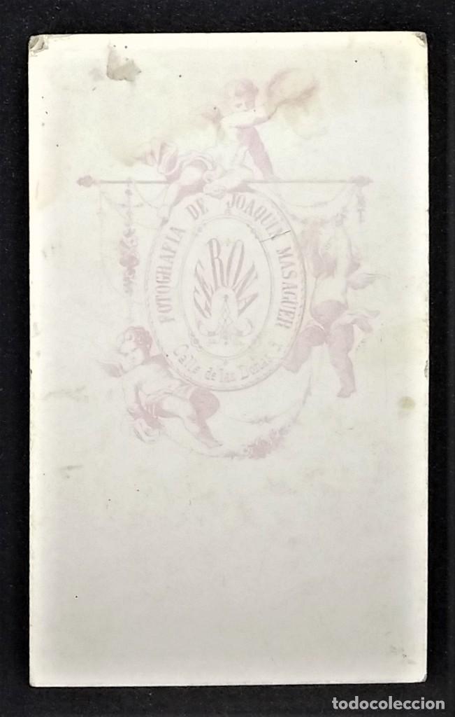 Fotografía antigua: Carte Visite. Fotógrafo Joaquín Masaguer. Gerona. Girona. 10 x 6 cm. - Foto 3 - 147984954