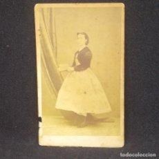 Fotografía antigua: CARTE VISITE FOTÓGRAFO JOAQUÍN MASAGUER. GERONA. 10 X 6 CM.. Lote 147987786