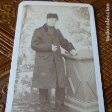 Fotografía antigua: SAN SEBASTIAN RETRATO DEL VICARIO DE ZARAUZ HACIA 1865 CARTE DE VISITE VALENTIN MARIN FOTOGRAFO . Lote 148014250