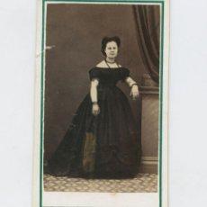 Fotografía antigua: RETRATO CDV DE DAMA, FOTO: M.M. FRANCO, MINIATURISTA Y FOTÓGRAFO, MADRID.. Lote 148039246