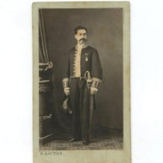 Fotografía antigua: MILITAR O DIPLOMÁTICO POR IDENTIFICAR, FOTO: GAUTIER, MADRID.. Lote 148048354
