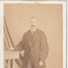 Fotografía antigua - FOTOGRAFIA CDV DE CABALLERO FOTOGRAFO J. SIERRA PAYBA CALLE LAGAR ,13 SEVILLA -C-42 - 148626162