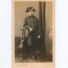 Fotografía antigua - RETRATO CDV DE UN MILITAR, FOTO: J. LE ROCH. - 148855658