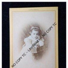 Fotografía antigua: CDV - CARTE DE VISITE - CARTA DE VISITA - ALBÚMINA - MARTIN HIRSCH CARLSBAD. Lote 148856902