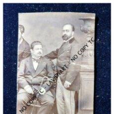 Fotografía antigua: ANTIGUA ALBUMINA SEÑORITOS FOTO J. OSES RECORTADA. Lote 148858438