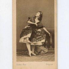Fotografía antigua: MERCIER, BAILARINA, FOTO: DISDERI, PARÍS. CDV. Lote 148859854