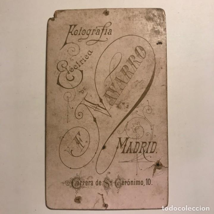 Fotografía antigua: Fotografía niño. Estudio F Navarro. Madrid. Fotografía eléctrica 6,4x10,5 cm - Foto 3 - 149261062