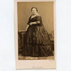 Fotografía antigua: MARIETTA ALBONI (1826-1894) CANTANTE DE ÓPERA ITALIANA, FOTO: DISDERI, PARÍS. CDV. Lote 149261074