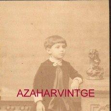 Fotografía antigua: SEVILLA, SIGLO XIX, CDV DE UNA NIÑA SEVILLANA, FOT.BEAUCHY, 62X104MM. Lote 149876586
