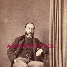 Fotografía antigua: SEVILLA, SIGLO XIX, CDV DE UN CABALLERO SEVILLANO, FOT.GODINEZ, 55X98MM. Lote 149877226