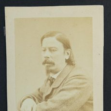 Fotografía antigua: CARTE DE VISITE-SIGLO XIX-RETRATO CABALLERO-10X6,5 CM. Lote 150146862