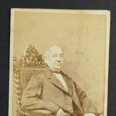 Fotografía antigua: CARTE DE VISITE-SIGLO XIX-RETRATO CABALLERO-10,5X6 CM. Lote 150146874
