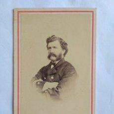 Fotografía antigua: CARTA DE VISITA, CDV, RETRATO DE CABALLERO CON UNIFORME . ESTUDIO COURRET HERMANOS, LIMA, AÑO 1866.. Lote 150213314