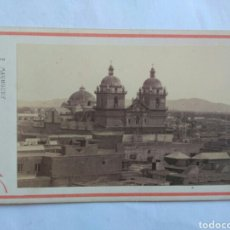 Fotografía antigua: CARTA DE VISITA, VISTA DE LA IGLESIA DE SAN PEDRO, LIMA. S. XIX. ESTUDIO DE E. MAUNOURY.. Lote 150218484