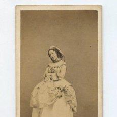 Fotografía antigua: RETATO CON NOMBRE REVERSO, FOTO KEN, PARÍS. CDV. Lote 150695542