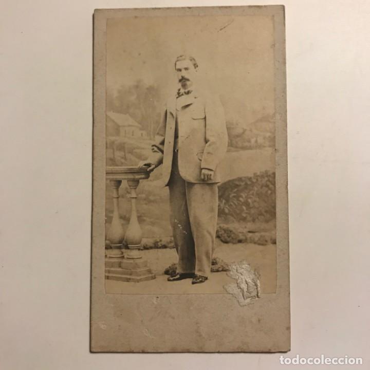 Fotografía antigua: Fotografía hombre. 6x10,6 cm - Foto 2 - 149261254