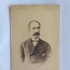 Fotografía antigua: CARTA DE VISITA, FOTOGRAFÍA SOBRE EL CAFÉ CUYAS. BARCELONA 1876.. Lote 151353516