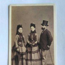 Fotografía antigua: FOTOGRAFÍA. CARTA DE VISITA. ANTONIO GARCÍA, VALENCIA SG XIX.. Lote 151375540