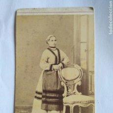 Fotografía antigua: FOTOGRAFÍA. CARTA DE VISITA. ANTONIO GARCÍA, VALENCIA FF. SG XIX.. Lote 151396242