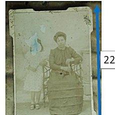 Fotografía antigua: ANTEQUERA, MALAGA. CDV DE MUJER CON SU HIJA. 1900-1905. Lote 152866994