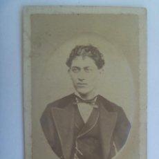 Fotografía antigua: CDV DE SEÑORITO DEL SIGLO XIX . Lote 153483782