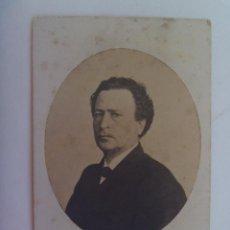 Fotografía antigua: CDV DE SEÑOR DEL SIGLO XIX. DE E. JULIA, MADRID ( EDITOR DE LA GALERIA DE ESPAÑOLES CELEBRES). Lote 154491462