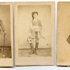 Fotografía antigua: LOTE 3 RETRATOS DE ACTRICES PORTUGUESAS O BRASILEÑAS, SIN INDICACIÓN DE FOTÓGRAFO, PORTUGAL. Lote 154672142