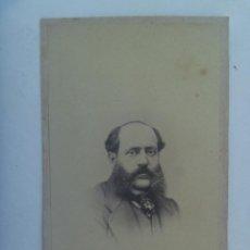 Fotografía antigua: CDV DE SEÑOR DEL SIGLO XIX. DE V. LOPEZ & E. LANELONGUE , LA CORUÑA. Lote 154698578