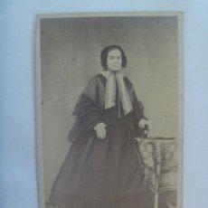 Fotografía antigua - CDV DE SEÑORA DEL SIGLO XIX. DE GILBERTO CASTERET, MAHON - 154707750