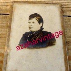 Fotografía antigua: MALAGA , SIGLO XIX, CDV DE UNA DAMA, FOT.M.REY, 105X165MM. Lote 154942706