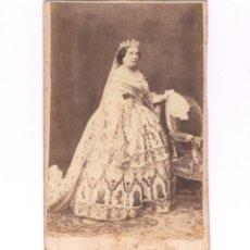 Fotografía antigua: LA REINA ISABEL II DE ESPAÑA, FOTO: LAURENT, MADRID. . Lote 154974862