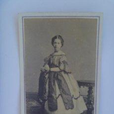 Fotografía antigua: PRECIOSO RETRATO CDV DE NIÑA . SIGLO XIX. DE COHNER , LA HABANA ( CUBA ). Lote 155326814