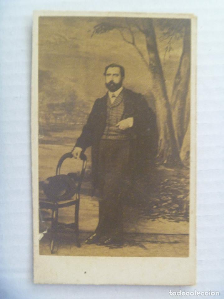 CDV DE SEÑOR DEL SIGLO XIX. DE PLANCHARD Y LORICHON, SANTANDER (Fotografía Antigua - Cartes de Visite)