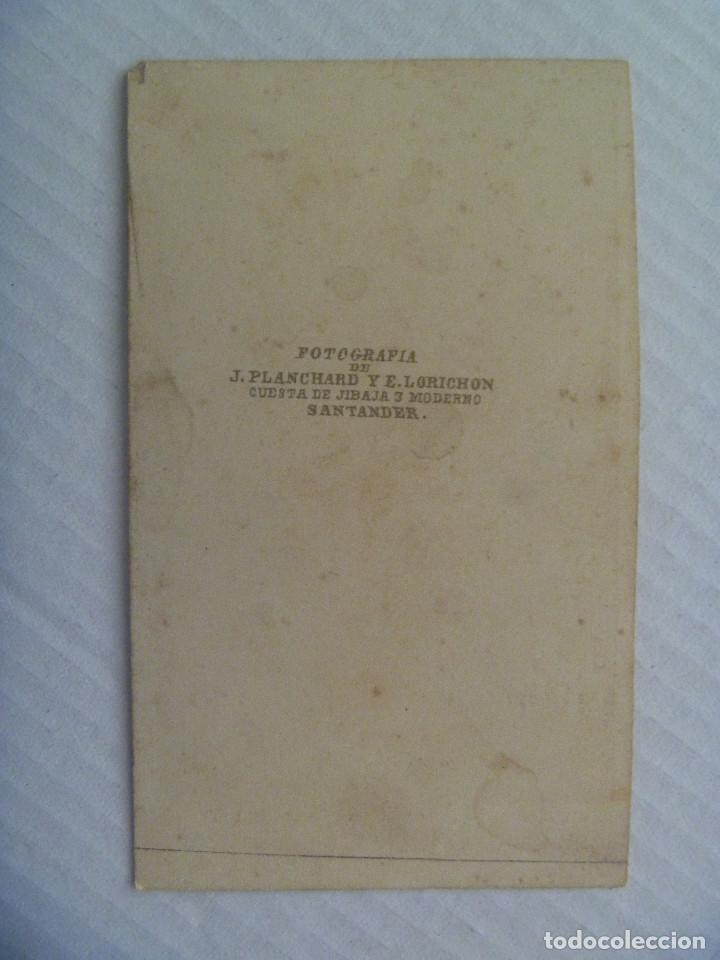 Fotografía antigua: CDV DE SEÑOR DEL SIGLO XIX. DE PLANCHARD Y LORICHON, SANTANDER - Foto 2 - 155416858