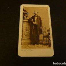 Fotografía antigua: PARIS CARTE DE VISITE RETRATO DE ANTONIO RUBIO SECRETARIO REINA Mº CRISTINA DISDERI FOTOGRAFO H.1865. Lote 155720706