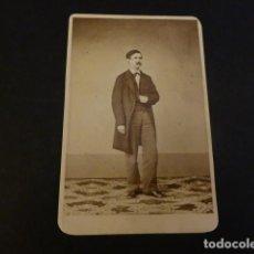 Fotografía antigua: CARTE DE VISITE RETRATO DE JUAN FACUNDO RIAÑO HISTORIADOR J. S. RRODRIGUEZ FOTOGRAFO MADRID. Lote 155723226