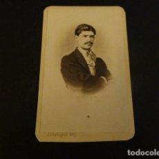 Fotografía antigua: CARTE DE VISITE RETRATO DE JUAN FACUNDO RIAÑO HISTORIADOR J. S. RRODRIGUEZ FOTOGRAFO MADRID . Lote 155749626