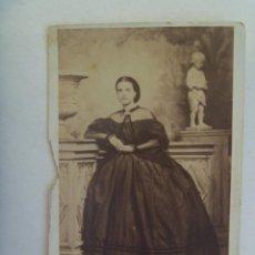 Fotografía antigua: PRECIOSO CDV DE SEÑORITA DEL SIGLO XIX. . Lote 156452266
