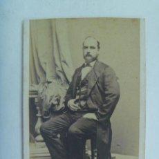 Fotografía antigua: CDV DE SEÑOR DEL SIGLO XIX. Lote 156680594