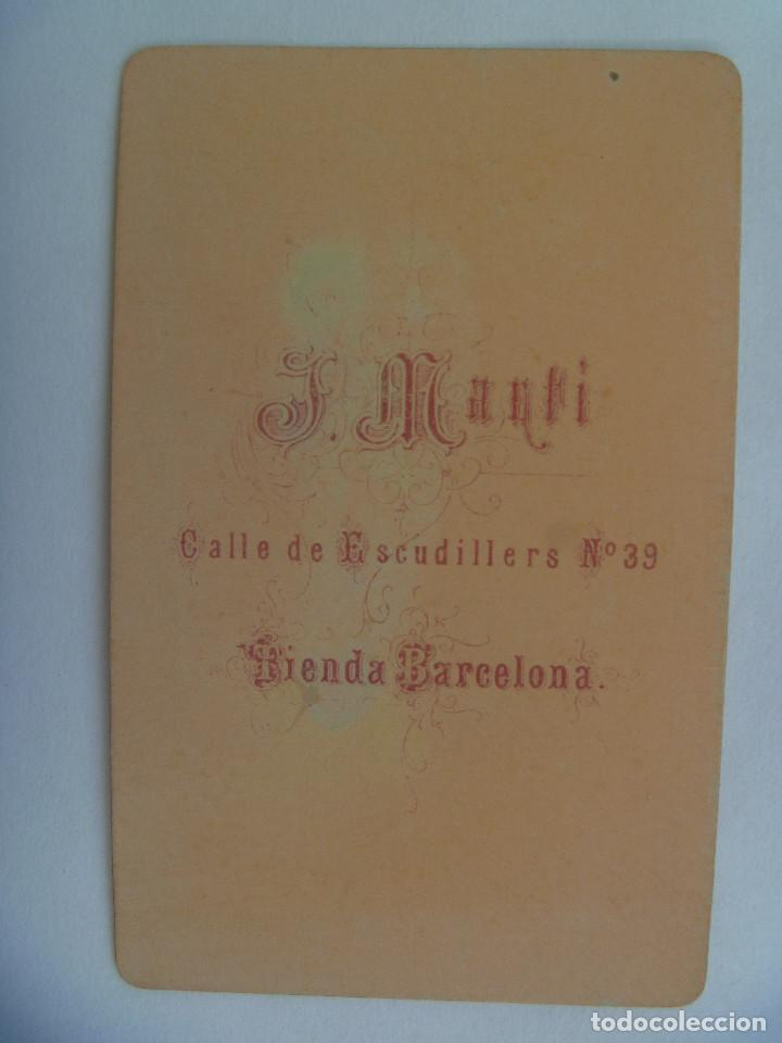 Fotografía antigua: CDV DE SEÑOR DEL SIGLO XIX . DE JUAN MARTÍ , BARCELONA - Foto 2 - 156915330