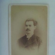 Fotografía antigua: CDV DE SEÑOR DEL SIGLO XIX . DE JUAN MARTÍ , BARCELONA. Lote 157007230