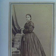 Fotografía antigua - CDV DE SEÑORA DEL SIGLO XIX . DE JUAN MARTÍ , BARCELONA - 157060634