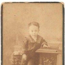 Fotografía antigua: NIÑO PEQUEÑO POR IDENTIFICAR - FOTÓGRAFO J. ASTRAY - MADRID. Lote 158198774
