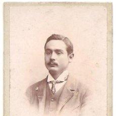 Fotografía antigua: HOMBRE POR IDENTIFICAR - FOTÓGRAFO TORRES - GRANADA. Lote 158198938